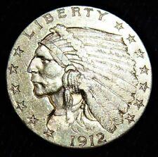 1912 Quarter Eagle, Gold Indian, AU