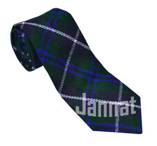 Men's Scottish Neck Blue Douglas Tartan Tie / Acrylic Wool Tartan Tie By Jannat.