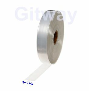 """2"""" x 2150' Clear Poly Tubing Tube Plastic Bag Polybags Custom Bags on a Roll 2ML"""