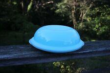 Tupperware Impressions Dessert Plate W/Bowl Cover Pie Plate #4927 & #3836 Blue