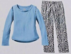 New Xhilaration Ladies Women Pajama Sleep Long Sleeve Shirt/Pants Blue Sz Medium