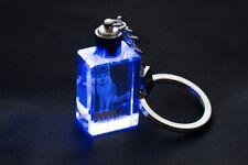 Akita Inu, Llavero redondo de cristal, alta calidad, Crystal Animals ES