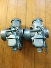 Vintage Snowmobile Pair Vm Roundslide Mikuni 40mm Carburetors Lever Choke Style