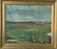 CARL CHRISTIAN ANGELO 1911-1962 WEITE LANDSCHAFT - DÄNEMARK - SCANDINAVIAN ART