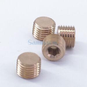 5pcs M5 M6 M8 M10 M12 M14 Male Brass Pipe Countersunk Plug Head Hex Socket