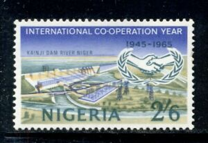 NIGERIA 180 SG168 MNH 1965 2sh6p ICY Kainji Dam Cat$10