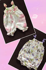 Lot 2 Baby Girl One Piece Sleeveless Bodysuit Jumpsuit Romper 12-18 Mos