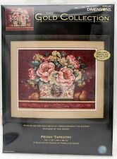 """Dimensions Gold Collection 20019 Peony Tapestry Needlepoint Kit 18""""x14"""" 2004"""