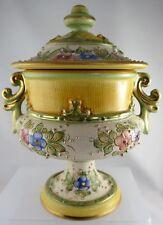Gialletti Deruta Italy Hand Painted Pedestal Urn 21cm