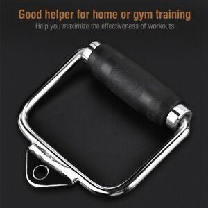 Fitness train Kraft Training Trizeps Bizeps Drücker Kabel Griff Bodybuilding Arm