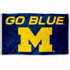 Michigan Wolverines Go Blue college banner 3X5ft Flag