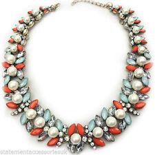 Pearl Coral Costume Necklaces & Pendants