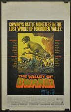 THE VALLEY OF GWANGI 1969 ORIG 14X22 WC MOVIE POSTER JAMES FRANCISCUS GILA GOLAN