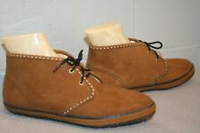 7 NOS Vtg 60s 70s MOD GoGo ANKLE BOOT LaCrosse Solaires BROWN SUEDE BOOTIE Shoe