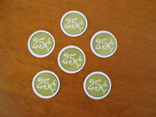 30 NEW 25 cent  Vending Price Stickers