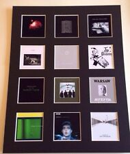 "Joy Division LP Discography Mounted Picture 14"" by 11"" FRee Postage"