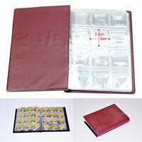 120 Coins Pockets Collection Holder Money Penny Coin Storage Album Book Folder