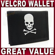 Mens Boys Trifold WALLET Skull & Crossbones Pirate themed sports