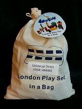 NEW LONDON WOODEN PLAY SET IN A BAG. FAMOUS LANDMARKS FUN TOY MODEL