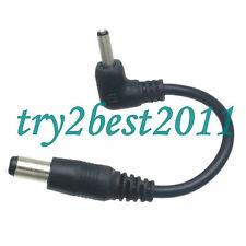 5.5x2.1mm Male Plug to 3.5x1.35mm Male Plug RA CCTV DC Power Cable cord Adapter