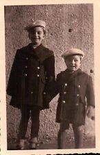 FOTO COPPIA DI BAMBINI NEL 1944 A PARETO ( ALESSANDRIA )  5-75