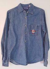 Embroirered Hard Rock Cafe Boston Adult Medium Blue Denim Jacket