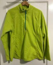 Eddie Bauer Womens Size XXL Acid Green Half Zip Fleece Jacket Warm Up Work Out