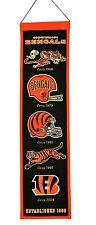 "Cincinnati Bengals Embroidered Wool Heritage 32"" Banner Pennant"