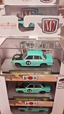 M2 MACHINES AUTO JAPAN 1969 NISSAN BLUEBIRD 1600 SSS 17-67 TURQUOISE  (A+/A)