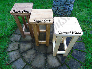 HANDMADE - Wooden Bar Stool, Rustic/Vintage, Many Colours & Sizes!!