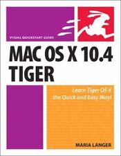 Mac OS X 10.4 Tiger: Visual Quickstart Guide (Visual QuickStart .9780321423375