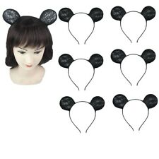 6pcs Black Cute Cat Costume Ear Band Party Lace Hair Headband Prop Mickey Lots