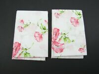 2x Vintage Single Standard Percale Floral Pillowcase Flowers Spring Pink USA