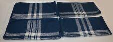 4 Ralph Lauren Talmadge Hill Plaid Blue / Cream Washcloths Set New Rare