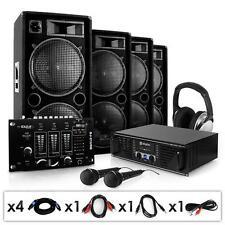 Profi DJ PA Anlage Party Sound System Lautsprecher Verstärker Mixer Mikro 4000w