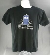 Doctor Who T-Shirt - Large - Black - Think Geek - You Never Forget Your 1st DR