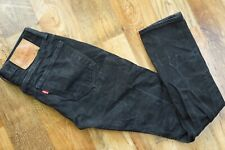 ✔️ Levis 501 Skinny Fit Stretch Button Fly Black Acid Wash Jeans W29 L32