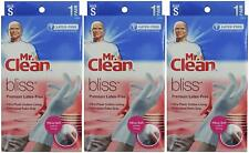 Mr. Clean Bliss Premium Latex Free Gloves Small 1 Pair Set of 3 - White