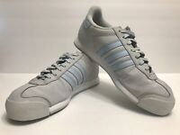ADIDAS SAMOA Gray and Blue Suede Men's Sneakers. Size: 10