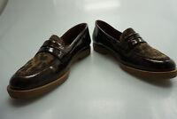 TAMARIS touch it Damen Schuhe Slipper Mokassin Gr.36 Leopard Leder braun wie Neu