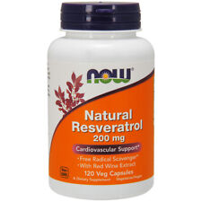 Naturel Resveratrol - 200mg X 120 Veg Capsules - Now Foods Cardiovasculaire