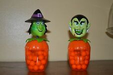 2 unopened Collectible Halloween Bobble Head Candy Holders- Witch & Vampire
