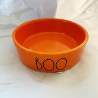 Rae Dunn By Magenta Halloween BOO LL Orange Pet Dish Cat Dog Bowl NEW 2020 RARE