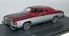 MATRIX Scale Models, Ford LTD Crown Victoria Sedan, silver/red,1986, 1/43