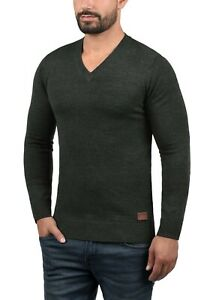 Blend Global Jeansmaker Knitted V Neck Sweater Charcoal Grey XXL New BNWT £39.95