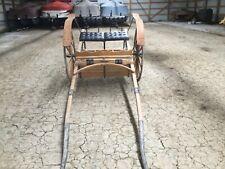 Horse Drawn High-Wheeled All-Wood (Oak) Show Cart For Sale