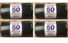 Heavy Duty Black Refuse Sacks Strong Thick Rubbish Bags Bin Liners UK Made 50