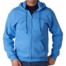 dd3840f8944 Men s Solid Full Zip Up Hoodie Classic Hooded Zipper Sweatshirt Cotton  Unisex