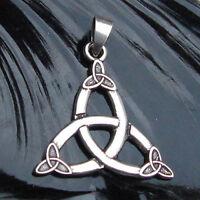Keltische Triquetta mit Triskelen Anhänger Silber Gothic Schmuck - NEU