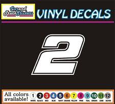# 2 two Brad Keselowski NASCAR Racing Die Cut Vinyl Decal Car Window Sticker